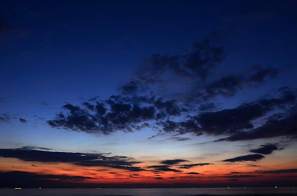 天神崎の夕景