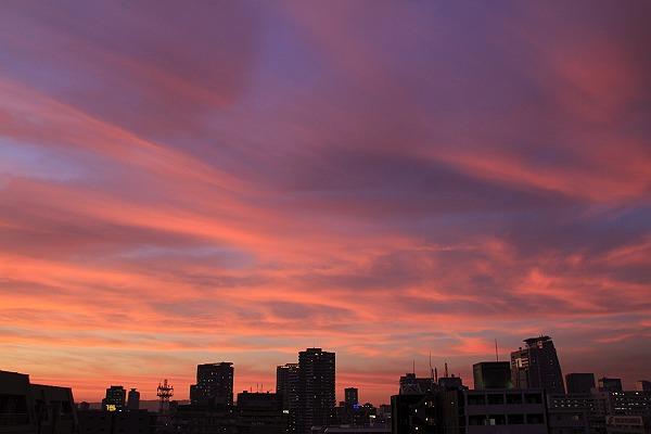 24日の夕景 北