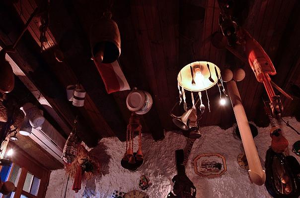 レストランの天井